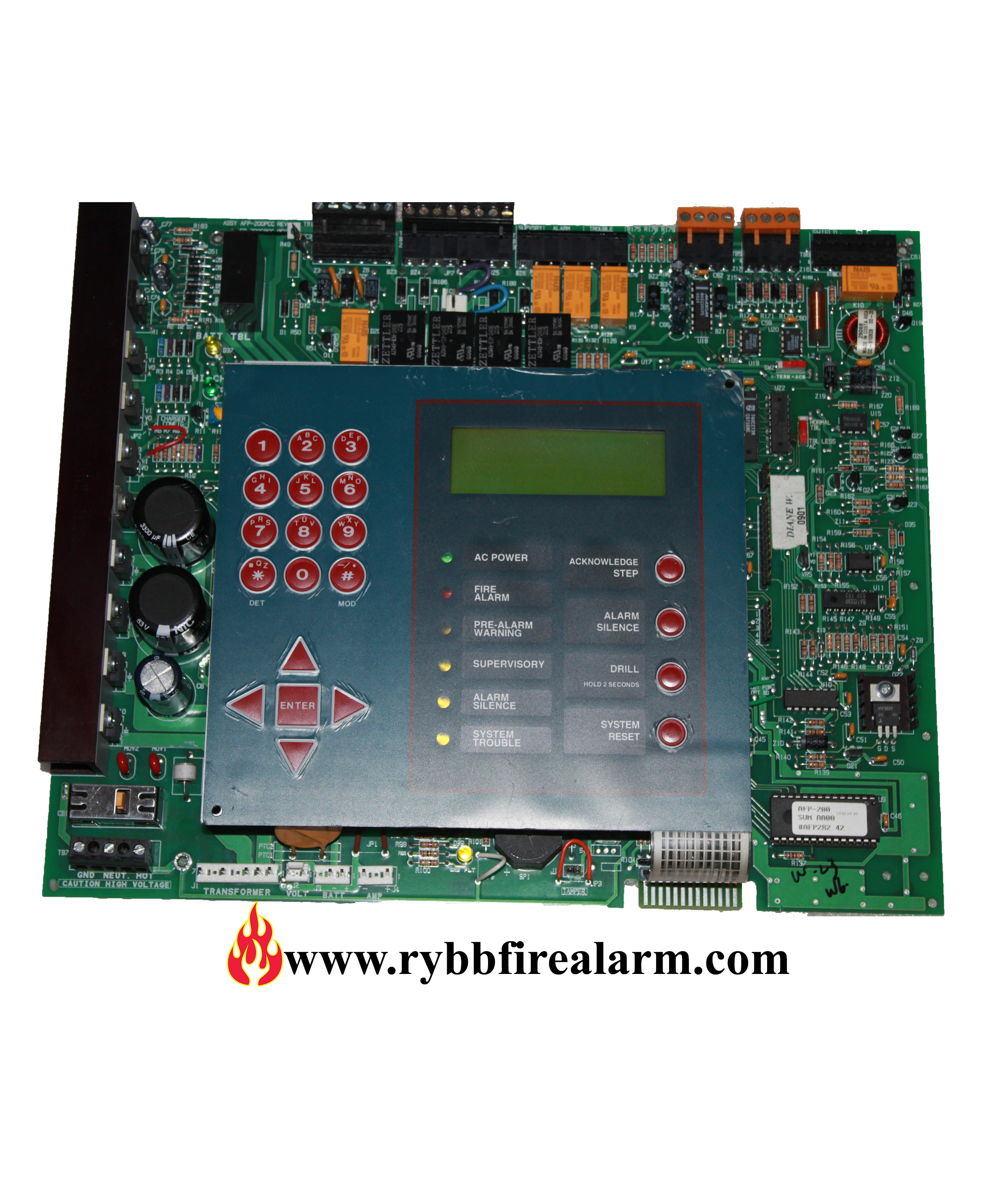 notifier afp 200 fire alarm control panel replacement board rybb rh rybbfirealarm com Notifier System 5000 Operation Manual Notifier AFP 200 Manual