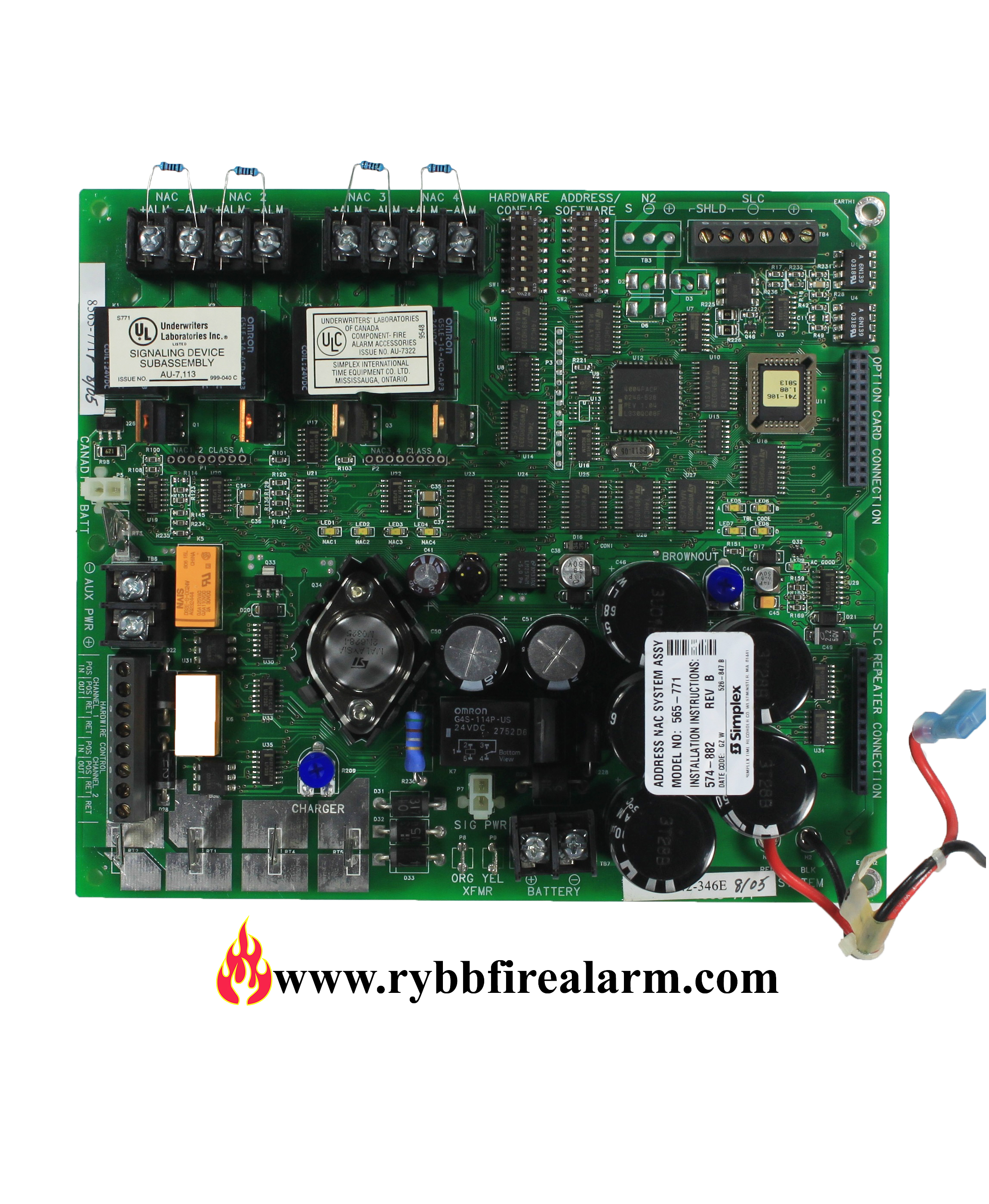 Simplex 4009 9201 Power Supply Rybb Fire Alarm Parts