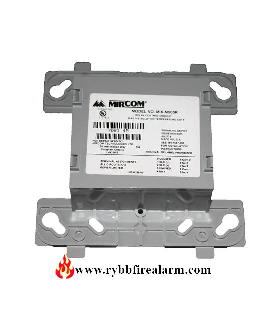 Mircom Mix M500r Intelligent Relay Module Rybb Fire