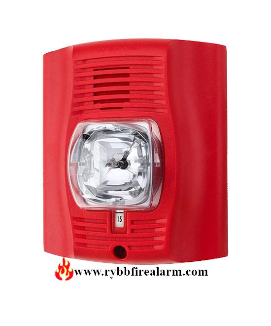 System Sensor P2r Horn Strobe 2w Std Cd Red Rybb Fire