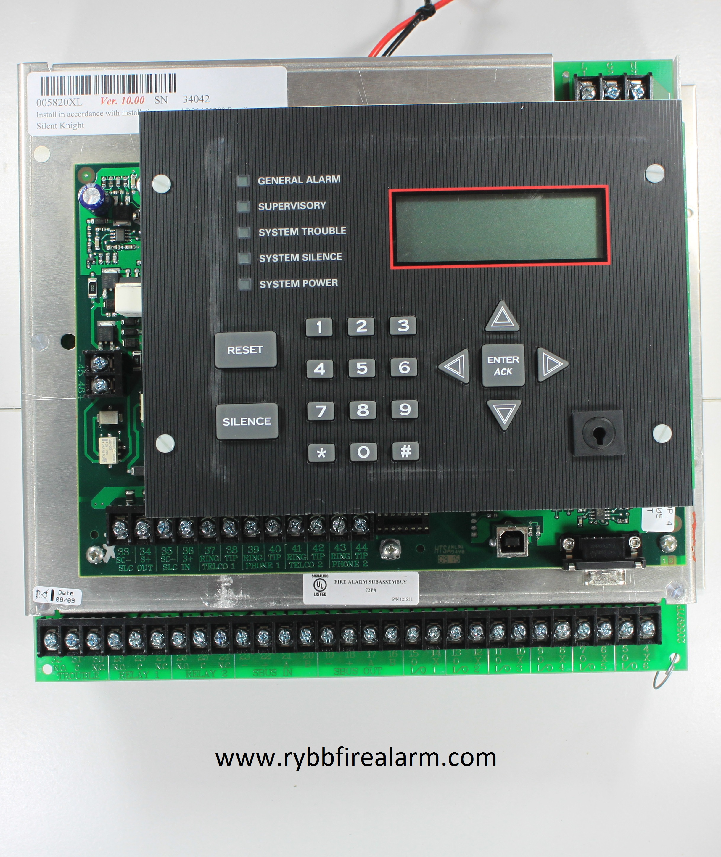Silent knight sk 5820xl replacement board rybb fire alarm parts silent fandeluxe Image collections