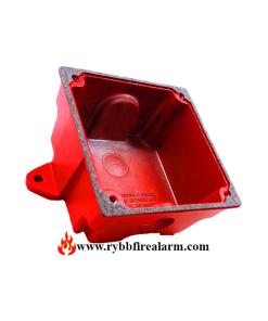 Cooper Wheelock WBB-R Weatherproof Back Box-Red