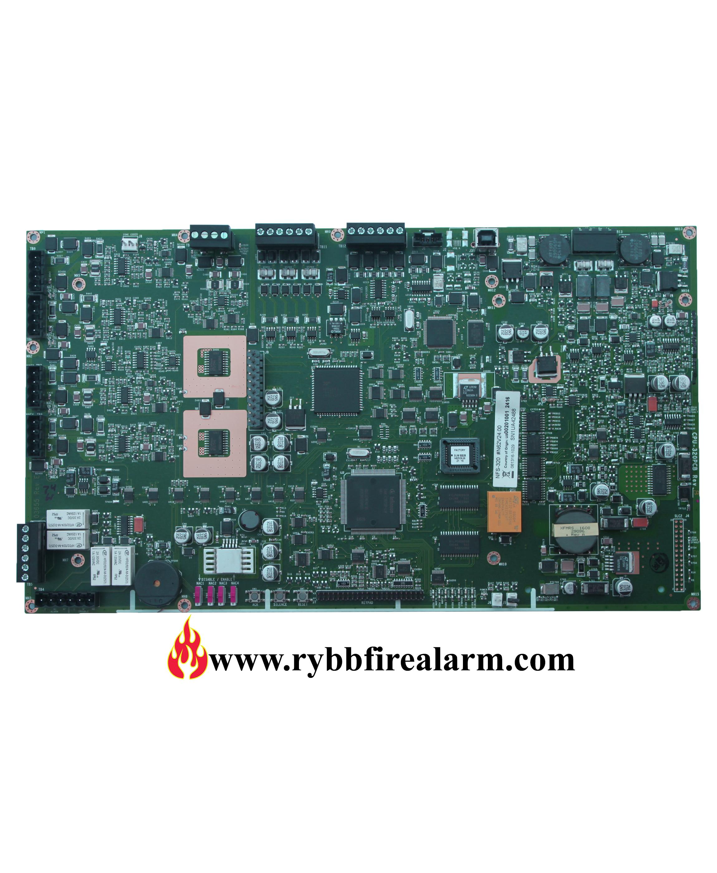 Notifier Nfs 320 Fire Alarm Control Panel Cpu Rybb Fire