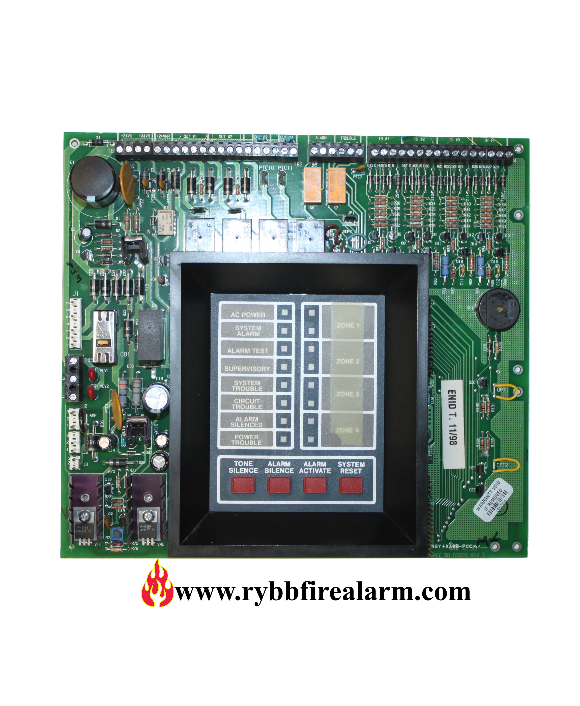 notifier sfp 400 replacement board rybb fire alarm parts service rh rybbfirealarm com Notifier System 5000 Operation Manual Notifier Nfw2 100 Manual
