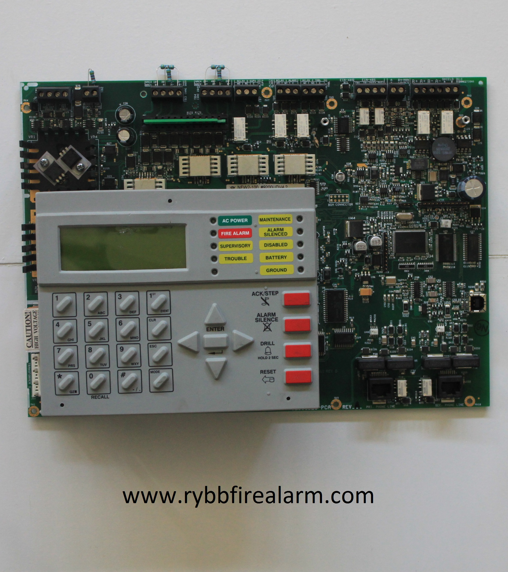 Alarm Relay Reviews >> Notifier NFW2-100 FACP Replacement Board – RYBB Fire Alarm Parts, Service, & Repairs