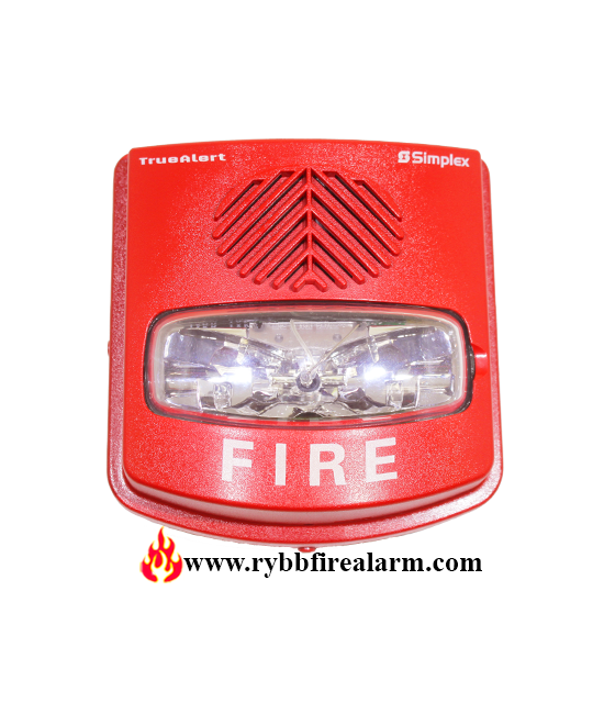 SIMPLEX 4906-9143 A/V AND V/O WEATHERPROOF WALL RED HORN STROBE P/N:0743812