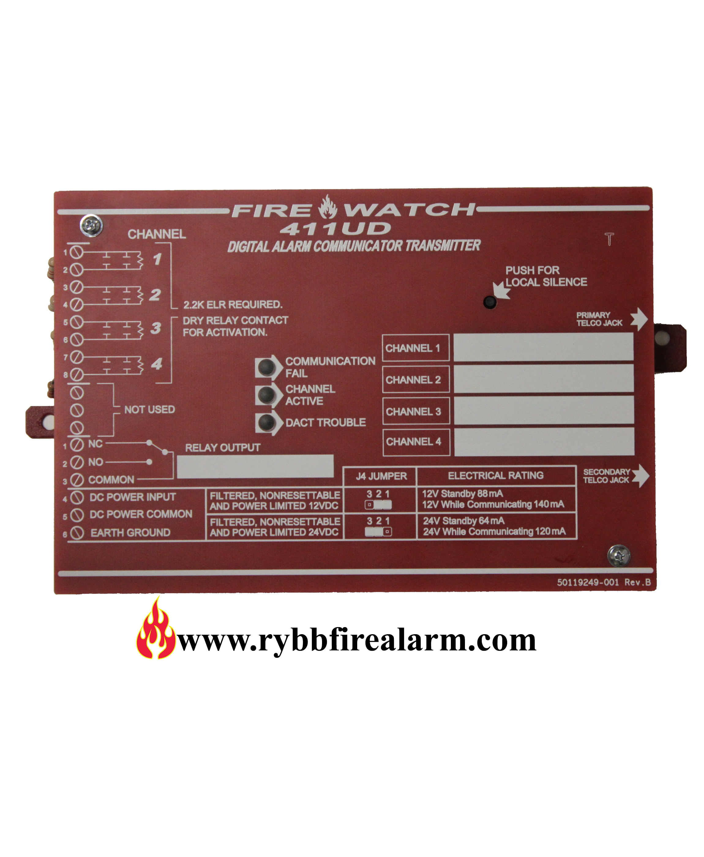 Fire-Lite 411UD Digital Alarm Communicator Transmitter