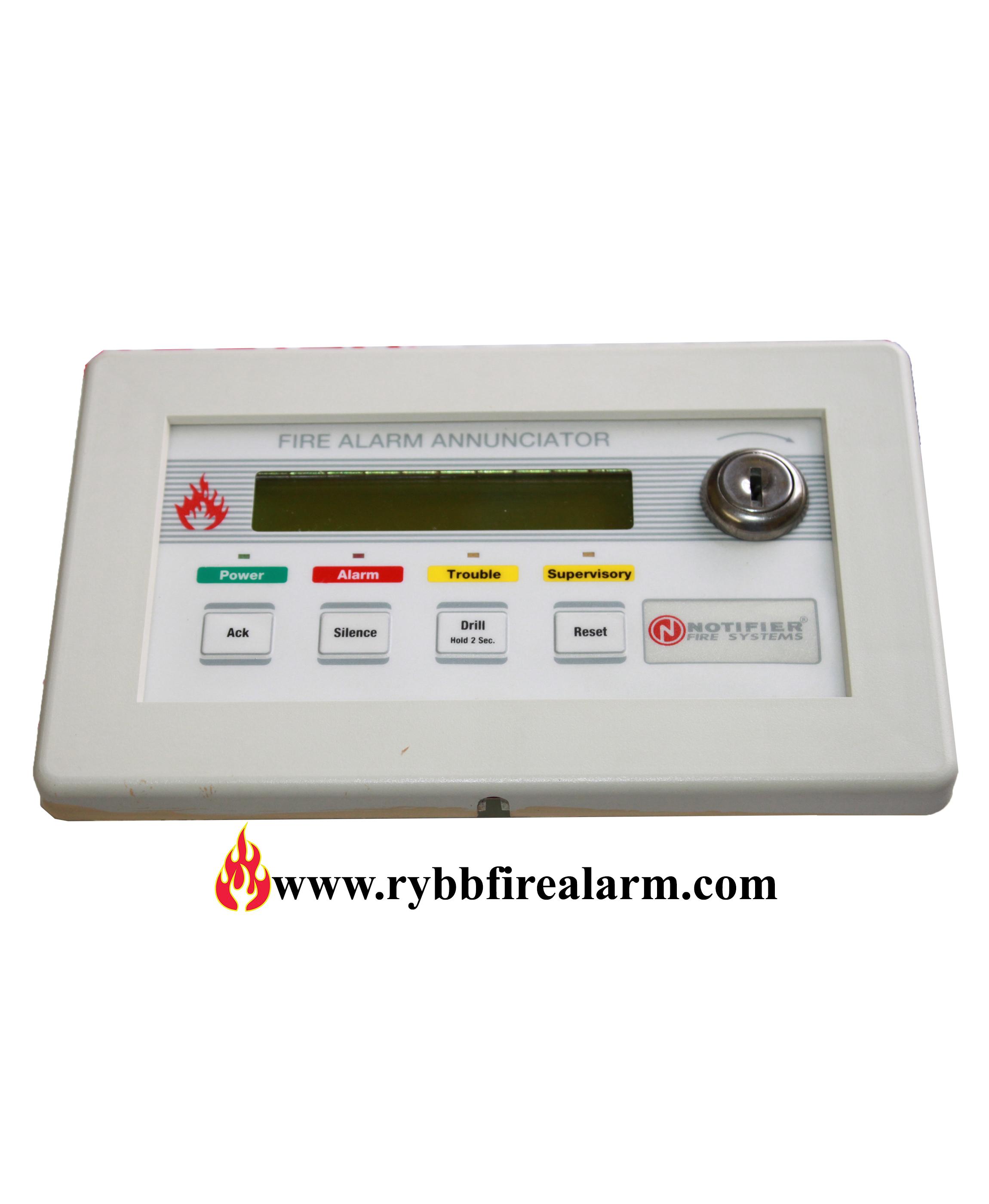 Notifier Lcd 2x20 Fire Alarm Annunciator Rybb Fire Alarm