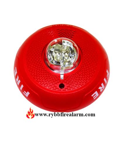 System Sensor Pc2rl Horn Strobe Ceiling Red Rybb Fire